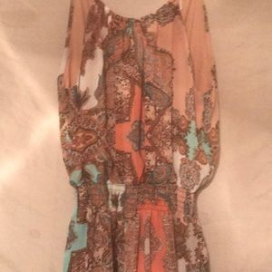 Allison Olivia size small romper in pink paisley